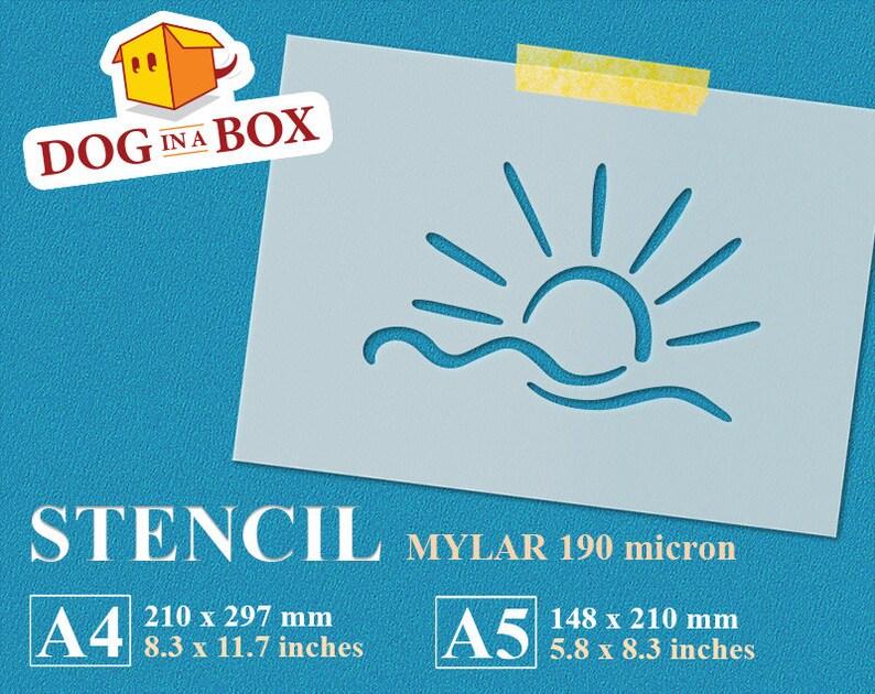 reusable stencil summer stencil 8x10 stencil for painting sun stencil DIY stencil stencil A5 stencil A4 Sun and Sea stencil