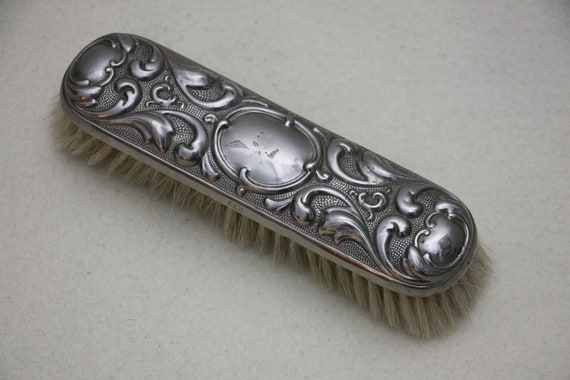 Antique hairdressing mirror with hairbrush, make-… - image 6