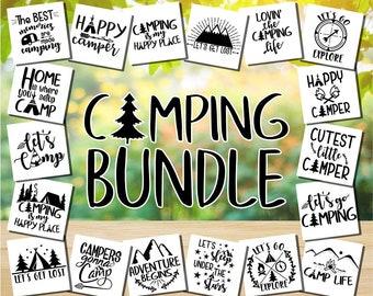 e95117c82019e Camper SVG - Happy Camper SVG - Camping SVG - Camping Bundle - Camping  clipart - Camper Life - Adventure svg - Cricut - Silhouette cut files