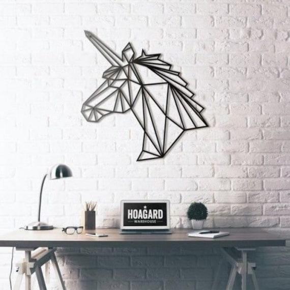 Hoagard Wandbild GIRAFFE aus Metall mattschwarz