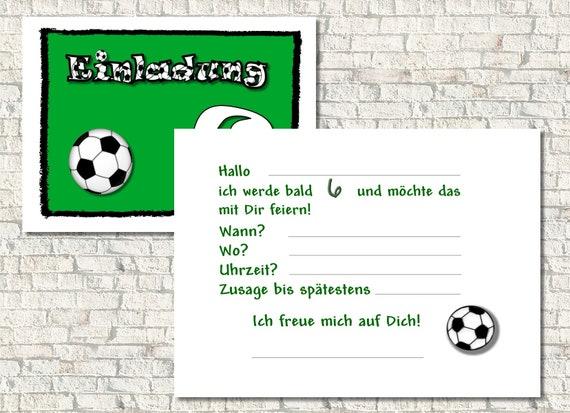 Einladungskarte Kindergeburtstag Fussball Text Anderbar