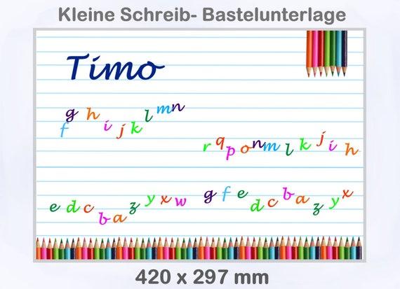 personalisiert Schreibunterlage 420 x297mm Größe A3 Eulen orange,Bastel