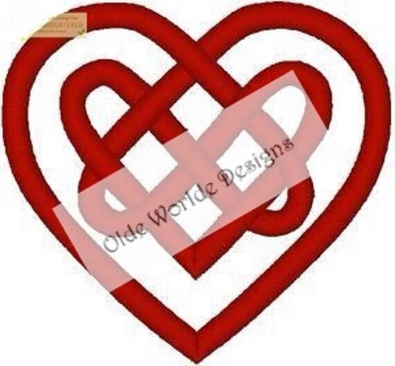 Celtic Knot Heart Vinyl Decal Etsy