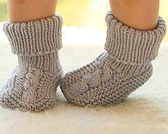 Baby socks baby booties hand knitted
