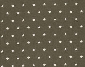 160cm Stoff Baumwolle beschichtet Wachstuch anthrazit//weiß Motiv Sterne Luna
