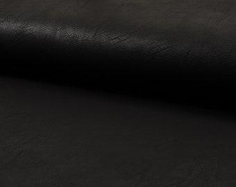 135cm Vintage Look Antik Quality Textiles Schwarz Kunstleder // Lederimitat