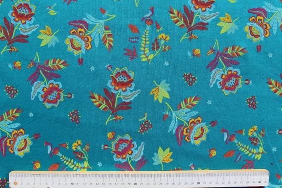 Quality Textiles Folien Druck Baumwolle Jersey Stoff Altrosa 147cm Papageien