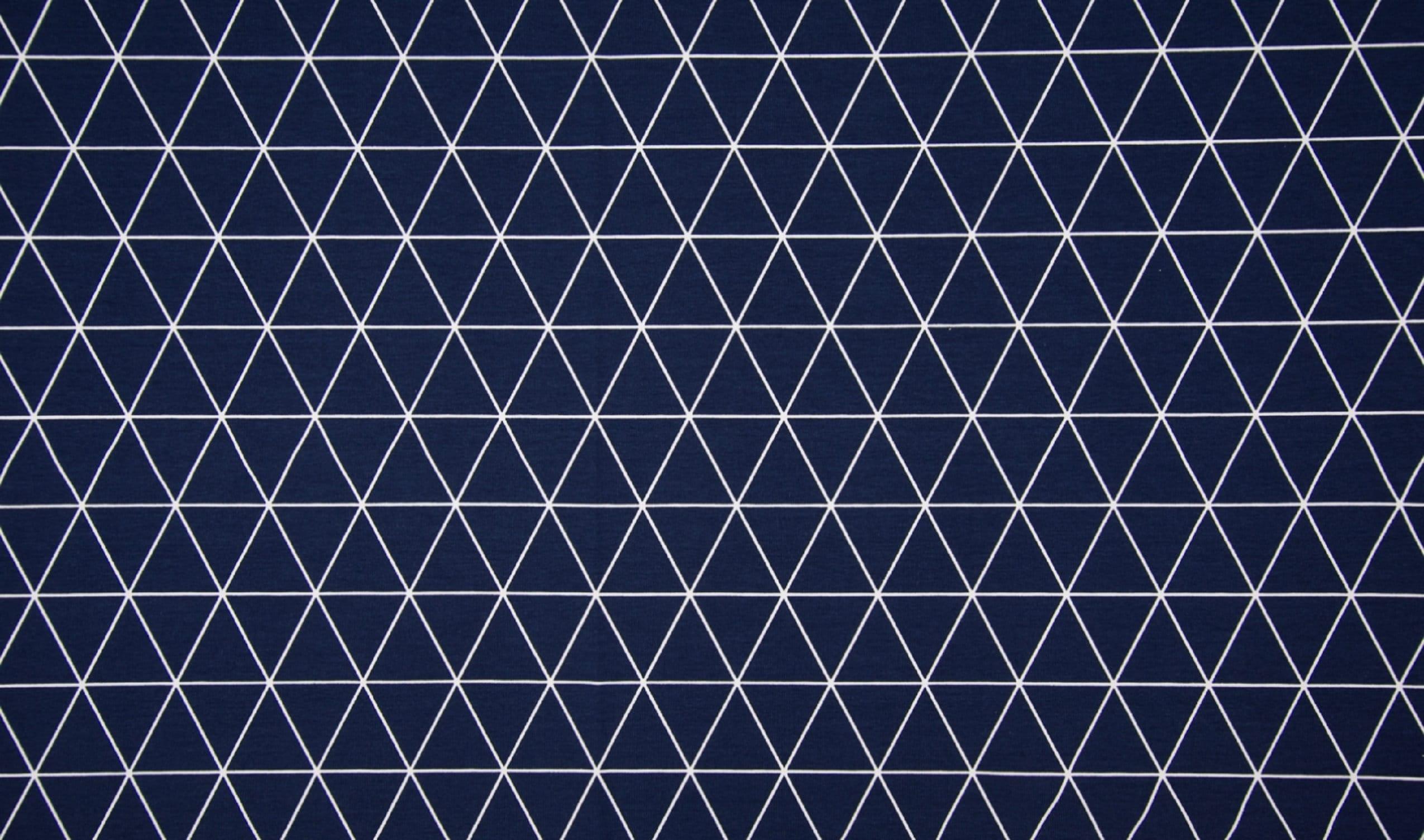 Quality Textiles Dreiecke-Rauten Weiß//Schwarz 150 cm Baumwolle Jersey Stoff