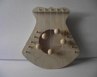 Door harp, natural, 5 strings