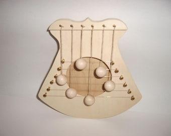 Door harp, natural, 6 strings