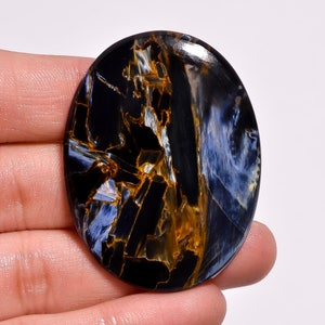 29X16X4 MM AAA+++ Natural Flash Pietersite Smooth Cabochon Amazing Natural Pietersite Oval Designer Cabochon 20.25 CTS Loose Gemstone