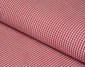 0.5 m Karo Leto baby mini-check red white 3 x 3 mm