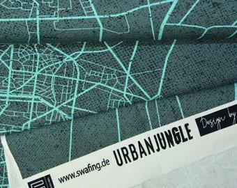 1 RAPPORT 0,7 x 1,6 m Urban Network by Thorsten Berger Sweat Stadt 330434 ÖkotexStandard 100 by A18-1158 Hohenstein