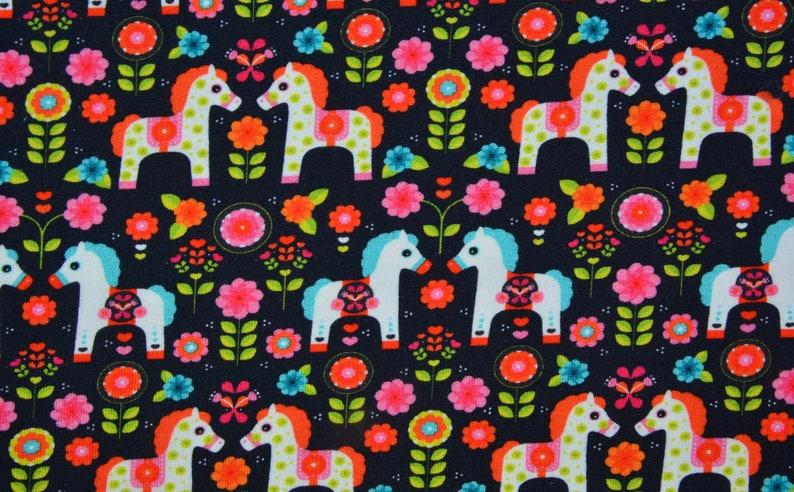 0,5 m DALAHORSE knit Jersey blackmulti