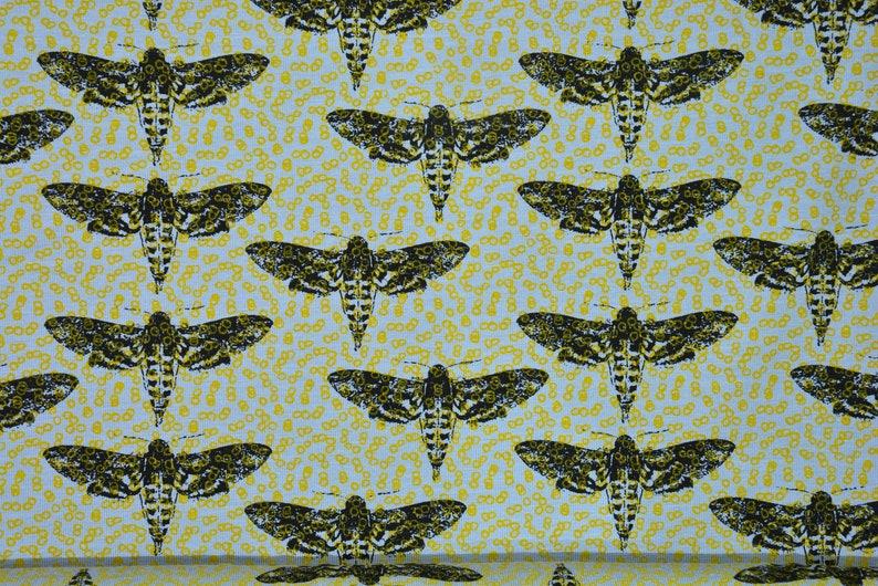 0,5 m Jersey MOTH motte mustard yellowblueblack