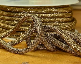 2 m LUREX GLITTER cordon gold ROPE cord