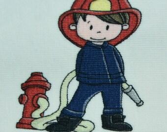 1 RAPPORT 0,6 x 1,5 m FIRE FIGHTER Jersey Hilco A 3684/96 knit fire brigade