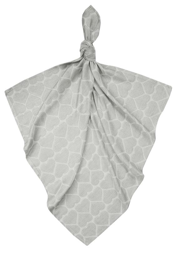Bambou de couches/tissu mousseline gris coeur
