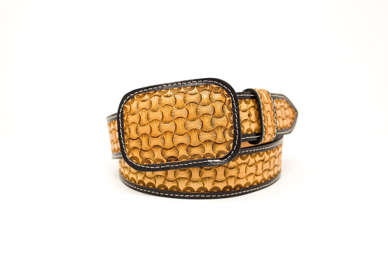 Leather Tooled Belt