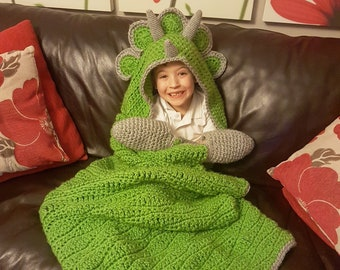 2 in 1 Hooded Dinosaur Blanket Triceratops or Stegosaurus in Adult and  Child Sizes cfd594eb1