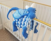 3in1 Ice Dragon Baby Blanket Crochet Pattern | Dragon Blanket Stroller Pram Toy Security Blanket Lovey Baby Shower Gift Boy Amigurumi Dragon