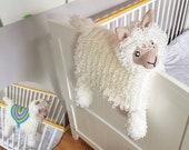 3in1 Llama Baby Blanket Crochet Pattern | Alpaca Llama Blanket Stroller Pram Toy Security Blanket Lovey Baby Shower Gift Boy Amigurumi Llama