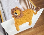 3in1 Safari Lion Folding Baby Blanket Crochet Pattern | Stroller Pram Toy Security Blanket Lovey | Baby Shower Gift For Boy Girl Present Toy
