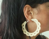 Quick & Easy Crochet Festival Hoop Earrings Pattern - Crochet Jewellery -