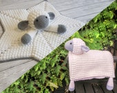 Sheep Baby Blanket & Lamb Lovey Baby Shower Set CROCHET PATTERN Multipurpose Blanket Toy Play Mat Baby Security Blanket Stroller Cot Blanket