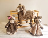 Horse Baby Blanket & 2 Horse Loveys Baby Shower Set CROCHET PATTERNS | Multipurpose Baby Blanket Toy Play Mat Cot Blanket Security Blanket