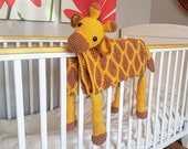 3in1 Safari Giraffe Folding Baby Blanket Crochet Pattern | Stroller Pram Toy Security Blanket Lovey | Baby Shower Gift For Boy Girl Present