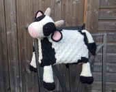 3in1 Farm Cow Folding Baby Blanket Crochet Pattern | C2C Graphghan Cow Print | Pram Crochet Blanket Toy Lovey | Baby Shower Gift | Birthday