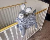 3in1 Woodland Bunny Baby Blanket Crochet Pattern   Bunny Rabbit Blanket Pram Toy Security Blanket Lovey Baby Shower Gift Boy Amigurumi Bunny