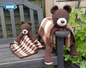 Bear Baby Blanket & Bear Lovey Baby Shower Set CROCHET PATTERNS | Multipurpose Baby Blanket Toy Play Mat Cot Blanket Teddy Security Blanket