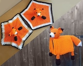 Fox Baby Blanket & Fox Lovey Baby Shower Set CROCHET PATTERN Multipurpose Baby Blanket Toy Play Mat Cot Blanket Baby Security Blanket Gift