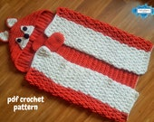 Woodland Fox Hooded Blanket For Adults & Kids Crochet Pattern | Animal Blanket With Hood | Wearable Blanket | Fox Blanket Child | Present