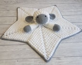 Liam The Lamb Baby Lovey Blanket Comforter Security Blanket Crochet Pattern - Baby Shower Gift - Farm Animals Sheep Lovey - Blankie For Baby