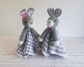 Bun Bun Bunny Loveys Blanket Crochet Patterns | Security Blanket Baby Shower Gift | Farm Animals Baby Lovey Cuddle Play Toy Amigurumi Bunny