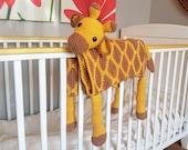 3in1 Safari Giraffe Folding Baby Blanket Crochet Pattern | Stroller Pram Toy Security Blanket Lovey | Baby Shower Gift For Boy Girl Present