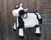 3in1 Farm Cow Folding Baby Blanket Crochet Pattern | C2C Graphghan Cow Print | Pram Crochet Blanket Toy Lovey | Baby Shower Gift | Birthday