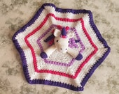 Maria The Unicorn Baby Lovey Security Blanket Crochet Pattern