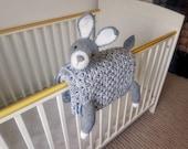 3in1 Woodland Bunny Baby Blanket Crochet Pattern | Bunny Rabbit Blanket Pram Toy Security Blanket Lovey Baby Shower Gift Boy Amigurumi Bunny