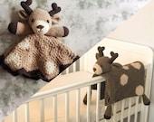 Deer Baby Blanket & Deer Lovey Baby Shower Set CROCHET PATTERN Multipurpose Baby Blanket Toy Play Mat Cot Blanket Baby Security Blanket Gift