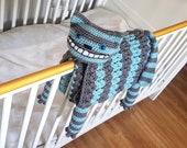 3in1 Cheshire Cat Folding Baby Blanket Crochet Pattern Stroller Pram Toy Security Blanket Lovey Baby Shower Gift Alice Wonderland Halloween