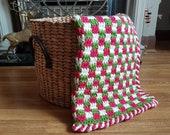Easy Crochet Baby's First Christmas Blanket Crochet Pattern - Simple Baby Afghan - Nursery Cot Crochet Blanket For Babies - Baby Shower Gift