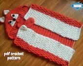Woodland Fox Hooded Blanket For Adults & Kids Crochet Pattern | Animal Blanket With Hood | Wearable Blanket | Fox Blanket Child | Present