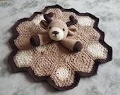 Freddy The Fawn Baby Deer Lovey Security Blanket Crochet Pattern - Woodland Animal Deer Comforter - Baby Shower Gift