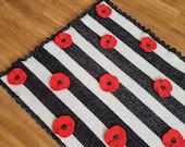 Poppy Flower Baby Blanket Afghan Crochet Pattern - Pram Blanket - Flower Blanket - Baby Shower Gift - Nursery Decor - Remembrance Day