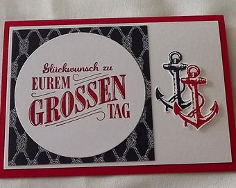 Maritime Hochzeitskarte Etsy