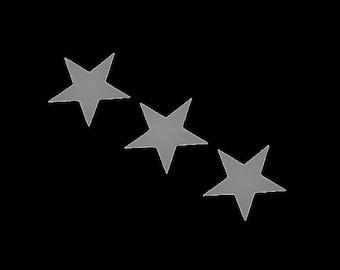 3x Stern star Aufbügler reflektierend Applikation Bügelbilder leuchten Sicherheit Bügelbild hotfix Applikationen Tier Kinder fluoreszierend